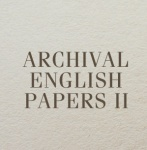 Коллекция Archival English Papers 2